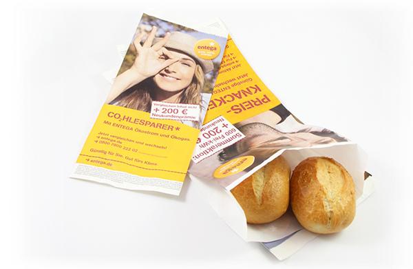 Bäckertüten Werbung To-Go Produkte AD2GO