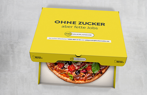 Pizzakarton Joblocal To-Go Kampagne