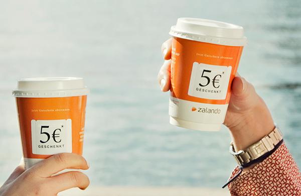 Zwei Zalando Coffee To-Go Becher mit 5 Euro Gutschein AD2GO