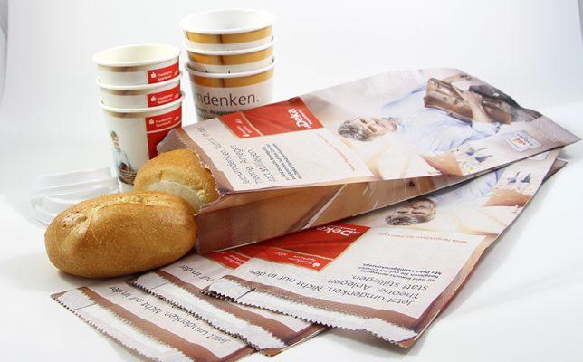 Frankfurter Sparkasse Coffee To-Go Becher und Bäckertüten To-Go Kampagnen Beispiele AD2GO