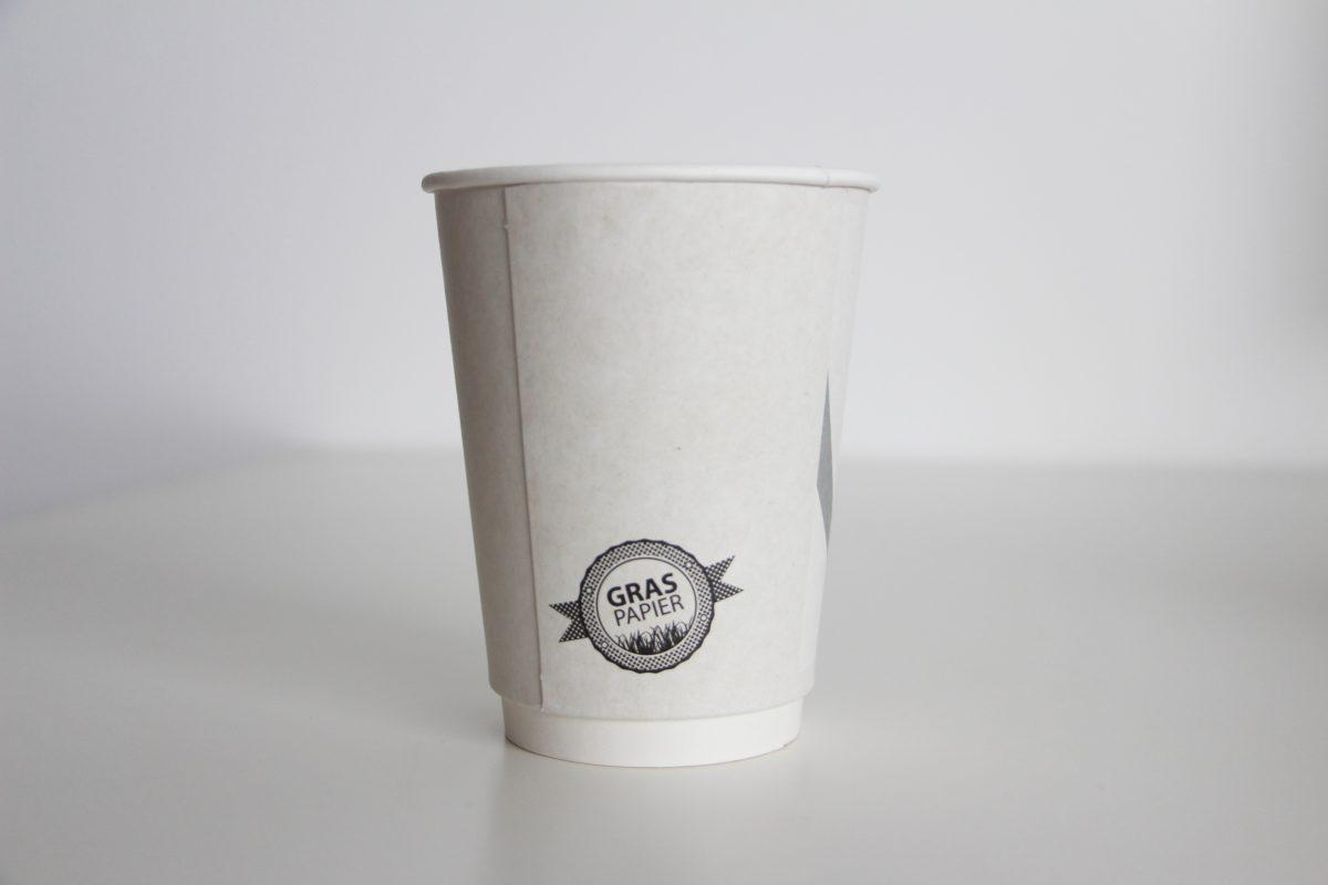 Recyclebarer Graspapierbecher To-Go Produkte AD2GO