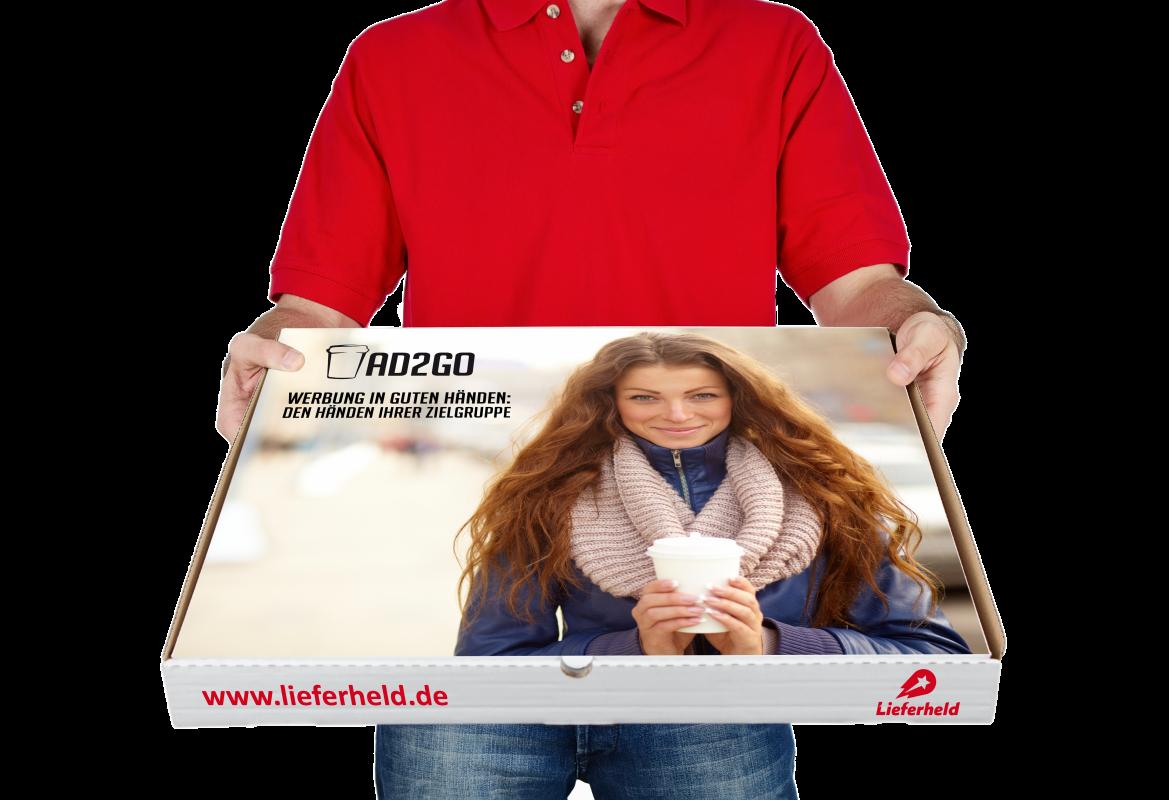 Pizzakartons bedrucken lassen Pizzabote Bild AD2GO