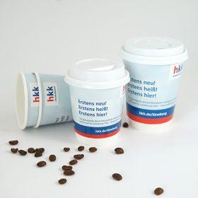 HKK Krankenkasse Coffee To-Go Becher To-Go Kampagnen Beispiele AD2GO